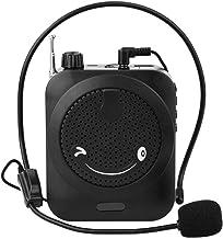 Amplificador de voz, portátil profesional del profesor de micrófono altavoz del megáfono amplificador de voz con la repetición de FM y reproductor de música Uso de las guías de entrenadores (Negro)