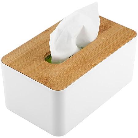 Household Tissue Box Paper Case Practical Square Wooden Bamboo Napkin Holder 6T
