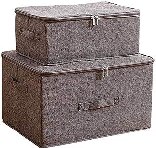 MU Grande boîte de rangement pliable, boîte de rangement multi-fonctions, Boîte tiroir de rangement, Double fermeture à gl...