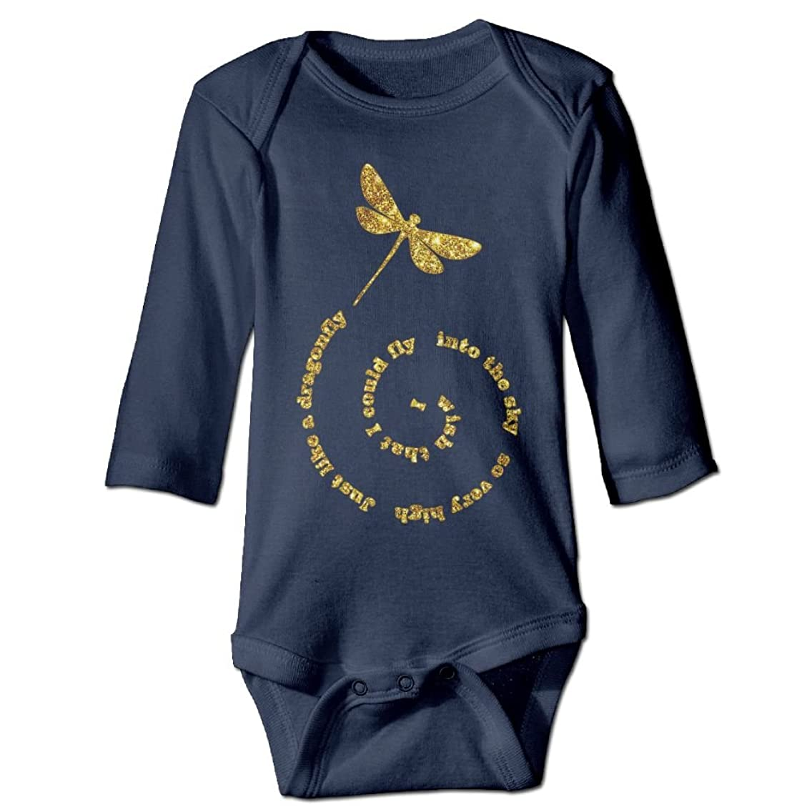 Unisex Cotton Long Sleeve Fly Away Dragonfly Cute Dragonfly Infant Baby Girls' Boys' Onesies Bodysuit Jumpsuit