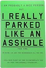Asshole Parking Stickers (10 Pack) by Violent Little Machine Shop