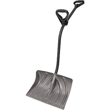 Suncast SC3950 Double Grip Ergonomic Snow Shovel/Pusher Combo With Non-Stick Graphite 18-Inch Blade & Steel Wear Strip