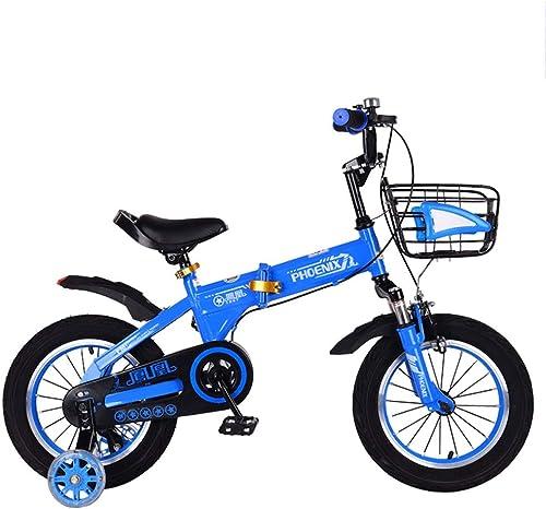 TSDS Kinderfahrrad 16 Zoll Outdoor Fahrrad Mode Mountainbike Blau Rosa Grün Faltrad