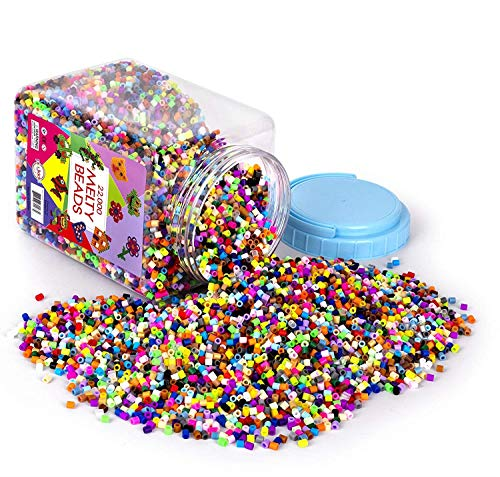 Big Bucket of Assorted Melty Beads Over 30 Colors Great Way for Kids to Create...