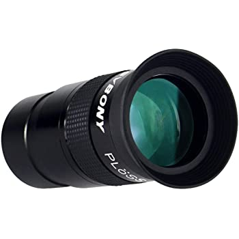 SVBONY 40mm 1.25 inches Plossl Telescope Eyepiece Fully Multi Green Coated Metal 40 Degree Apparent Field 4 Element for Astronomy Telescope
