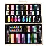 Anladia Caja Colores Niños Kit de Pintura para Niños-180 Piezas Set Lápices de Colores de Dibujo Pintar Crear para Niños y Adultos