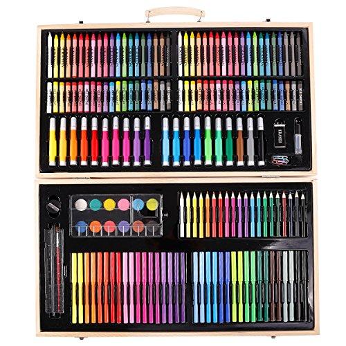 Anladia Caja Colores Kit de Pintura -180 Piezas Set Lápices de Colores de Dibujo Pintar Crear para Adultos