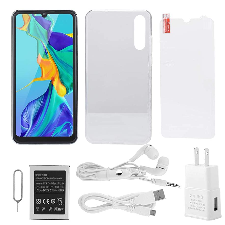 P30 pro 6GB+64GB Smart Phone 3600mAh Battery 6.28inch HD Full Screen 800W+ 1300W Pixel Support Face Recognition & Fingerprint Unlocked, Android 8.0 Operation System 100-240V Pearl White(US Plug)
