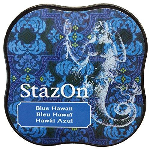Tsukineko StazOn Midi Blue Hawaii Ink Pad, Synthetic Material, 5.8 x 5.8 x...