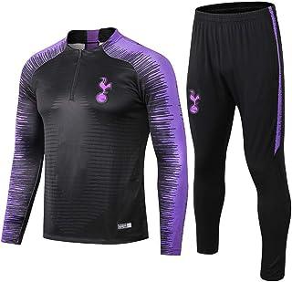 comprar comparacion zhaojiexiaodian Traje de Entrenamiento de fútbol Tottenham Half Pull Club para Adultos Ropa Deportiva Uniforme de Traje