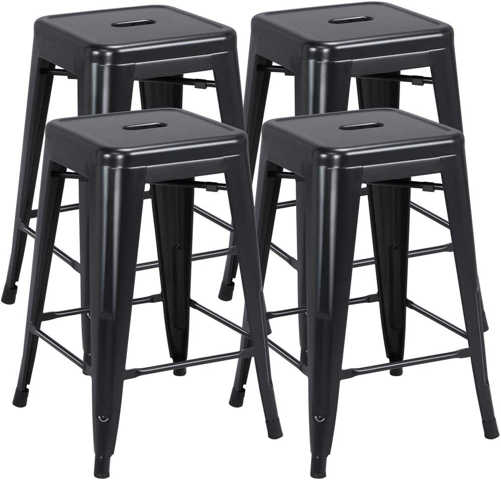 Challenge the lowest price of Japan Topeakmart 24inch Metal stools Industrial Vintage Factory outlet Height Counter