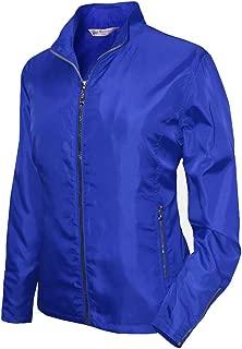 Monterey Club Ladies Lightweight Mini Plaid Zip-up Jacket #2792