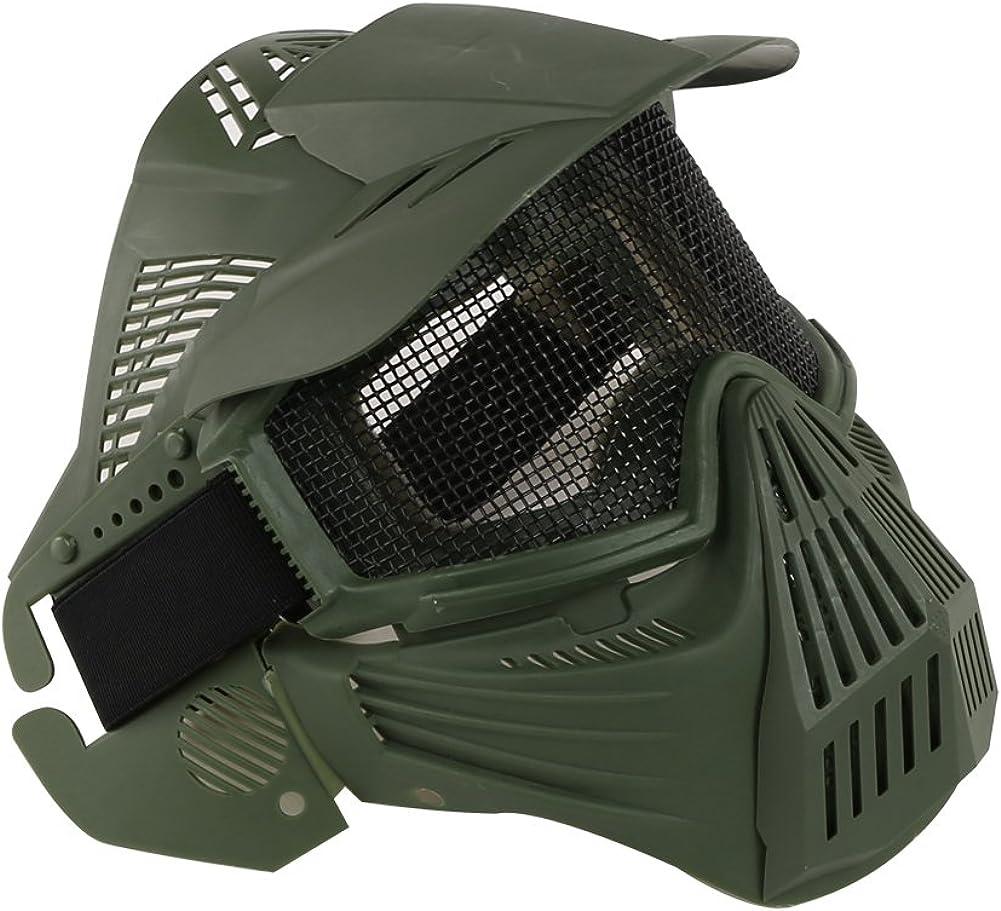 Máscara táctica de haoYK, de malla, protección facial integral, para airsoft, paintball, uso militar o como disfraz de Halloween