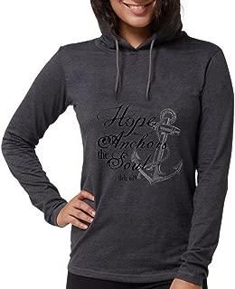 Hope Anchors The Soul Heb. 6:19 Long Sleeve T-Shir - Womens Hooded Shirt