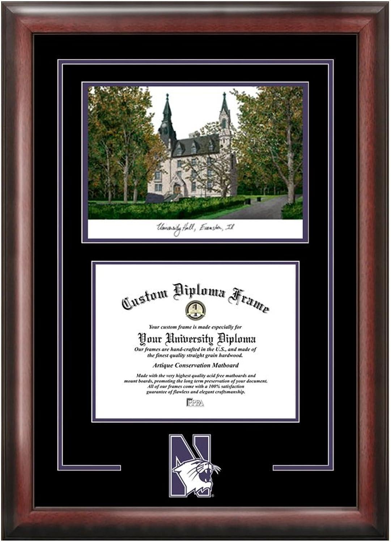 Northwestern University Spirit Graduate Frame with Campus Image