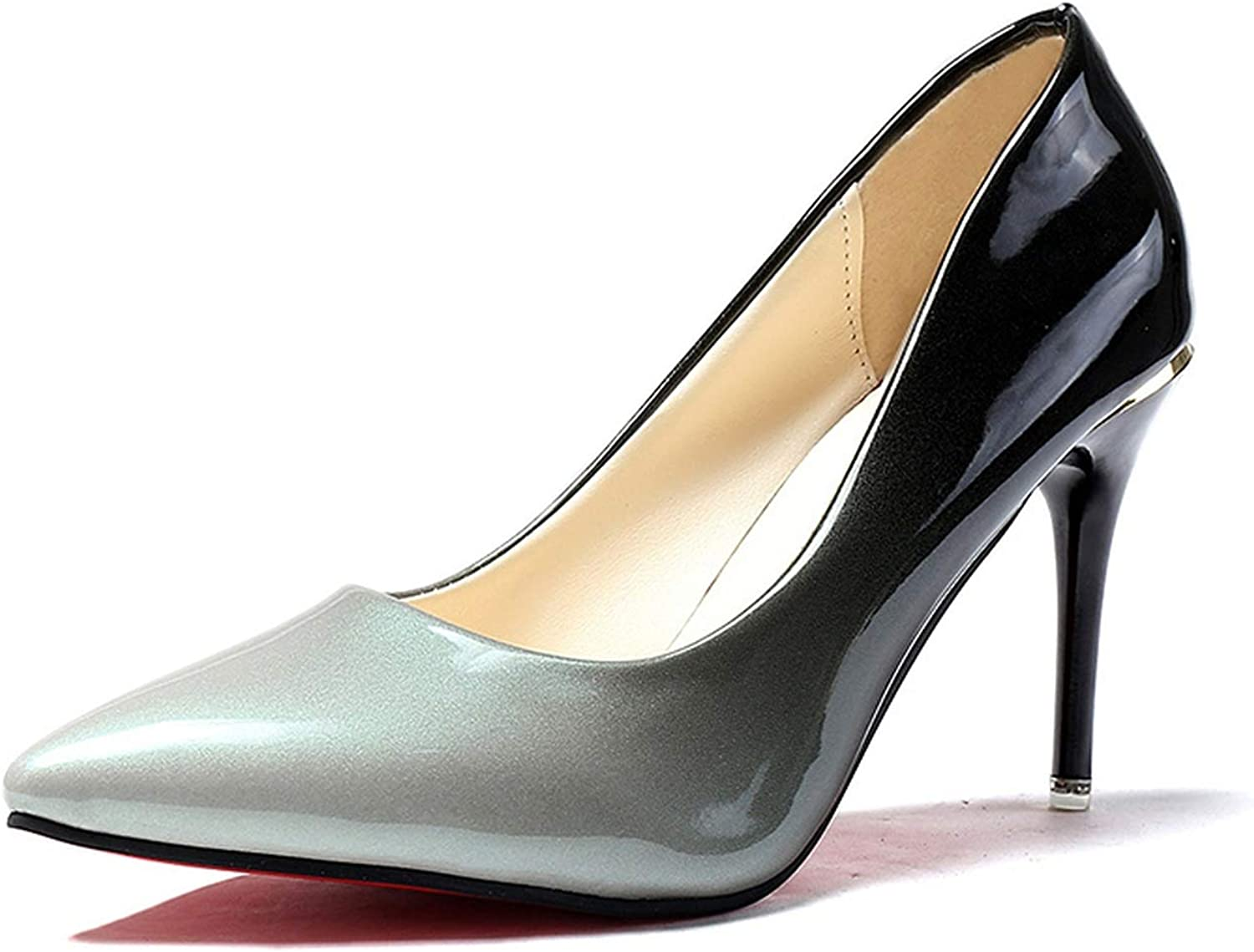 Wild Little Cat Patent Leather High Heels color Pumps Black Red Dress shoes Office Women shoes 60h48
