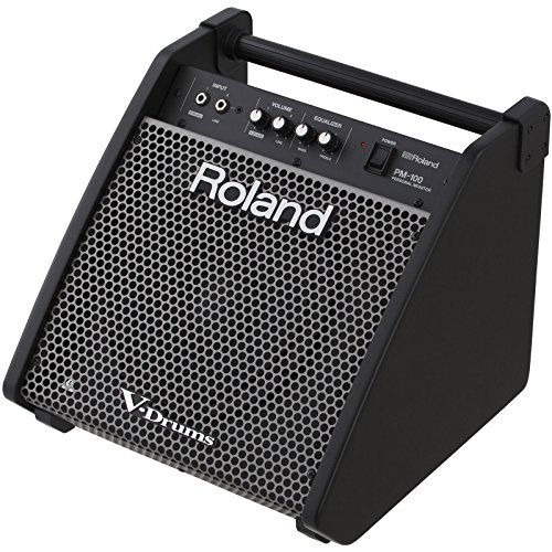 Roland PM-100 Compact Electronic V-Drum Set Monitor, 80-Watt