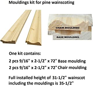 Allwood Premium Nordic Pine Moulding kit   12 lineal ft. of Wall Length