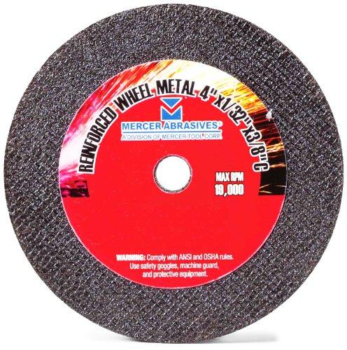 Mercer Abrasives 300080-25 4-Inch by 5//8-Inch Aluminum Oxide Resin Fibre Discs 80 Grit 25-Pack