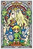 Poster The Legend Of Zelda - Stained Glass - preiswertes Plakat, XXL Wandposter