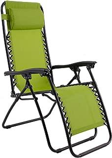 Captiva Designs Zero Gravity Textilene Lounge Folding Chair for Outdoor Patio Use, Green