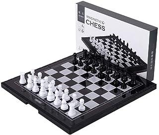 Luckyw Schack magnetiskt resesackset med bräda pedagogiska leksaker för födelsedag schackset