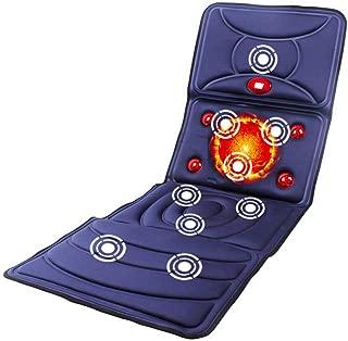 ASDY Full Body Heating Massage pad Heat Therapy Massager Back Electric Massage pad Home Mattress backrest   9 Massage Motor   8 Modes,Black