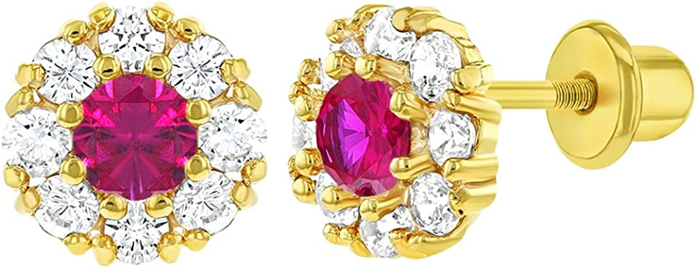 Yellow Gold Plated Clear and Zirconia Safety Flower Minneapolis Mall Purple gift Cubic