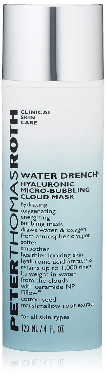 リンケージ最終離れたピータートーマスロス Water Drench Hyaluronic Micro-Bubbling Cloud Mask 120ml/4oz並行輸入品