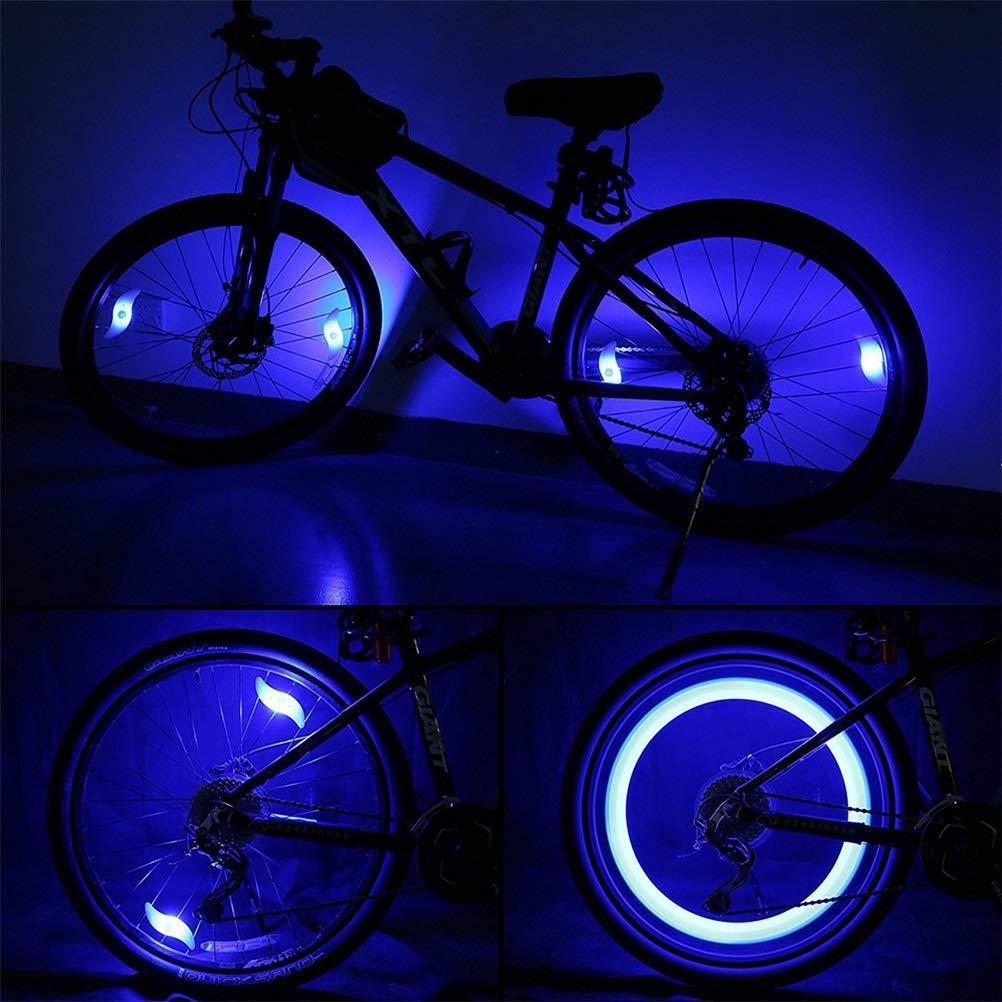 Faviye 6pcs Bicicleta Luces de Rueda LED, Bicicleta Bicicleta luz ...