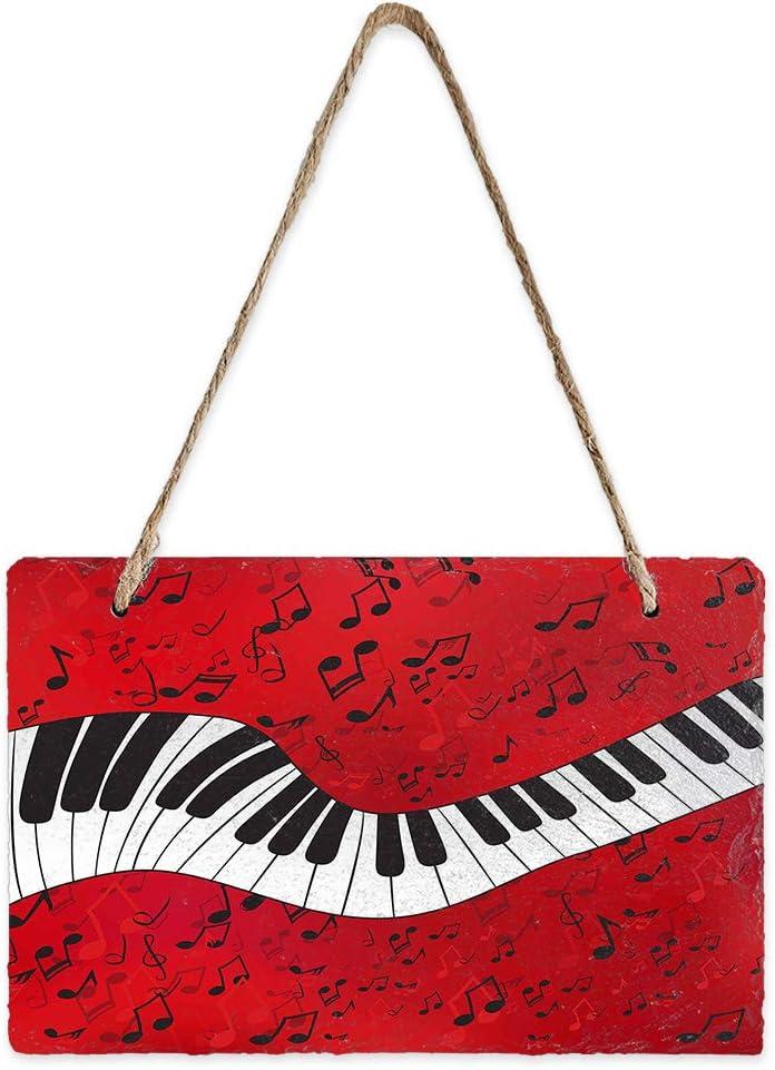 EZON-CH Slate Hanging Chalkboard Cheap Sign Note Pattern Music Cheap SALE Start Piano