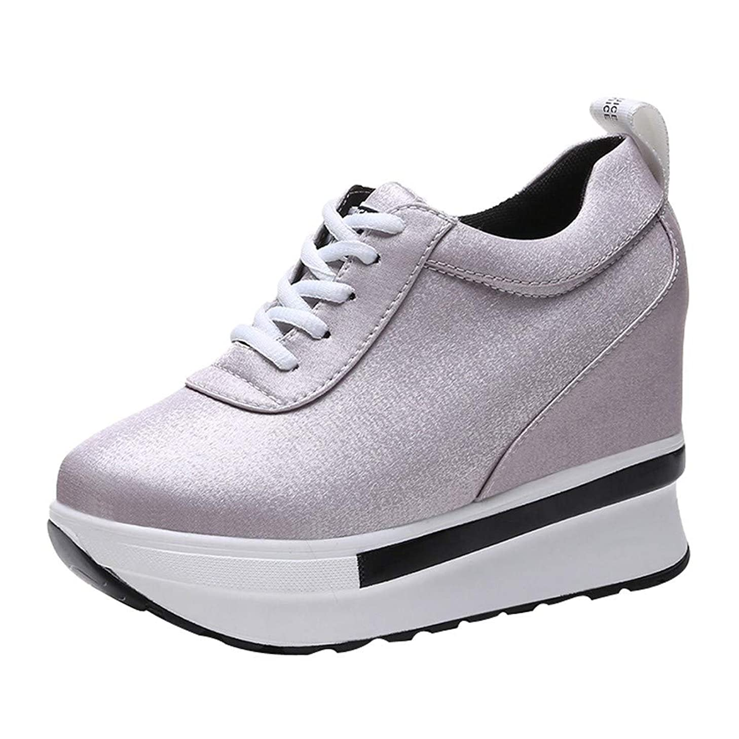 Kauneus Women Comfort Walking Shoes Casual Tennis Lightweight Sneakers Wedges Air Cushion Slip On Fitness Shoes