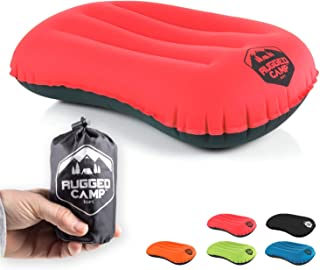 Rugged Camp Camping Pillow - Ultralight Inflatable Travel Pillows - Multiple Colors - Compressible, Lightweight, Ergonomic...