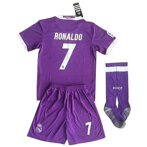 Real Madrid Ronaldo  7 Away Soccer Jersey Set   Socks Kids Youths 11- 663a8865b