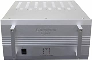 Earthquake Cinenova Grande 7BRS 7 x 300 RMS at 8 Ohms Bridgeable Audiophile 7 CH Home Theater Amplifier XLR Inputs 3 x 1400 RMS + 1 x 610 RMS at 4 Ohms SILVER