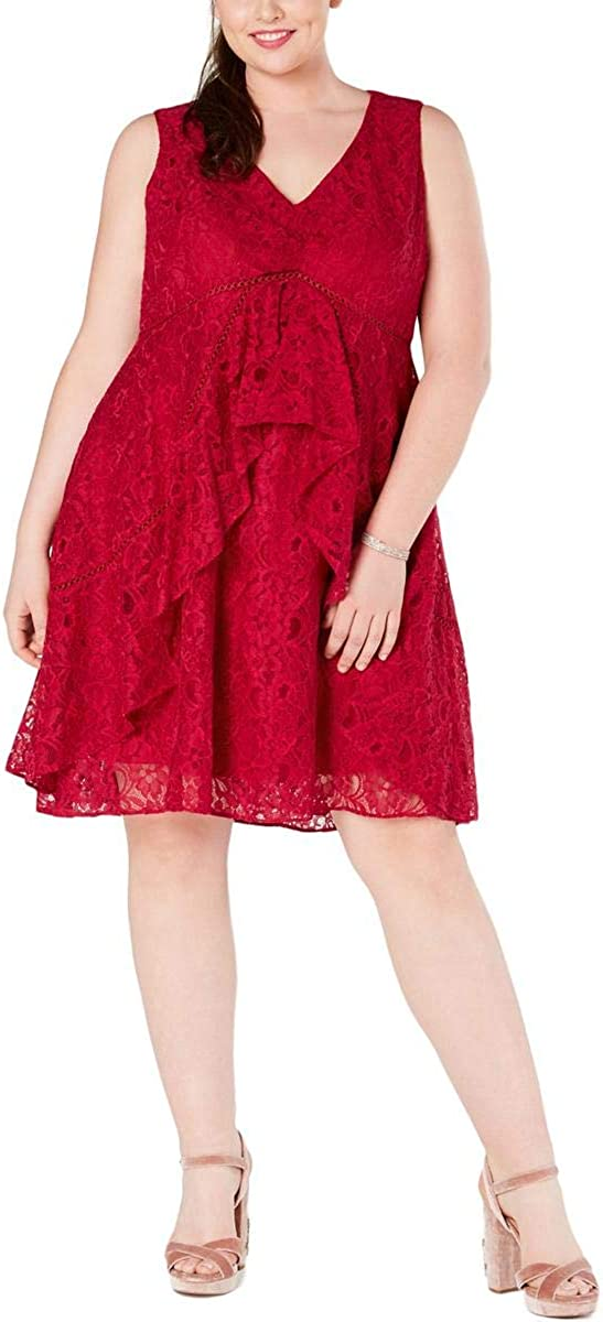 Taylor Dresses Women's Sleeveless Lace Cocktail Dress