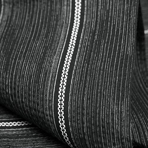 [キョウエツ]浴衣セットしじら綿麻C新サイズ4点セット(浴衣、献上柄角帯、下駄、腰紐)メンズ(L,C-4.変わり縞×黒(角帯白))