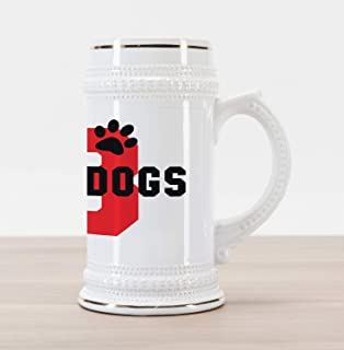 beer with red dog logo