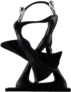 QOTSTEOS Décoration de Sculpture de Couple Ornement en résine, Figurines de Danse de Bureau Statue Abstraite de Danse de C...