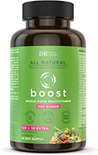 Dr Diane Whole Food Womens Multivitamin - Immune Support | 120+10 Pills, Vitamin C with Zinc,Vitamin A,D,E ...