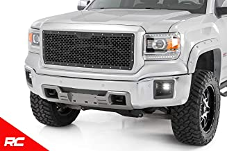 Rough Country Custom Mesh Grille Compatible w/ 2014-2015 GMC Sierra 1500 Black Powdercoat Stainless Hardware 70188
