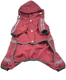 Cat Dog Waterproof Raincoat Summer Autumn Stripe etc Elastic Pet Patchwork Hooded Pet Spring Adjustable