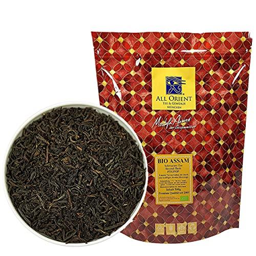 All Orient BIO Assam   500g   Schwarzer Tee lose   FTGFOP - Blatt Tee   Second Flush   Assam Tee lose   Naturbelassen   Ohne Zusatz von Aromen