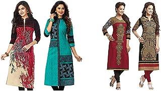 Jevi Prints Women's Dress Material (Pack of 2)(Kavya-1207-Saheli-1512&Saheli_1204_1225_Item 1 Color Multi-Coloured|Item 2 ...