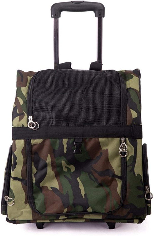 DESESHENME Dog Outgoing Portable Bag Pet Bag Chest Trolley Bag Shoulder Bag Backpack Cat Out Bag,A36×43×23cm