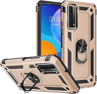 جراب FTRONGRT لهاتف Samsung Galaxy M21 2021، قوي ومقاوم للصدمات، مع حامل هاتف محمول، غطاء لهاتف Samsung Galaxy M21 2021-Gold