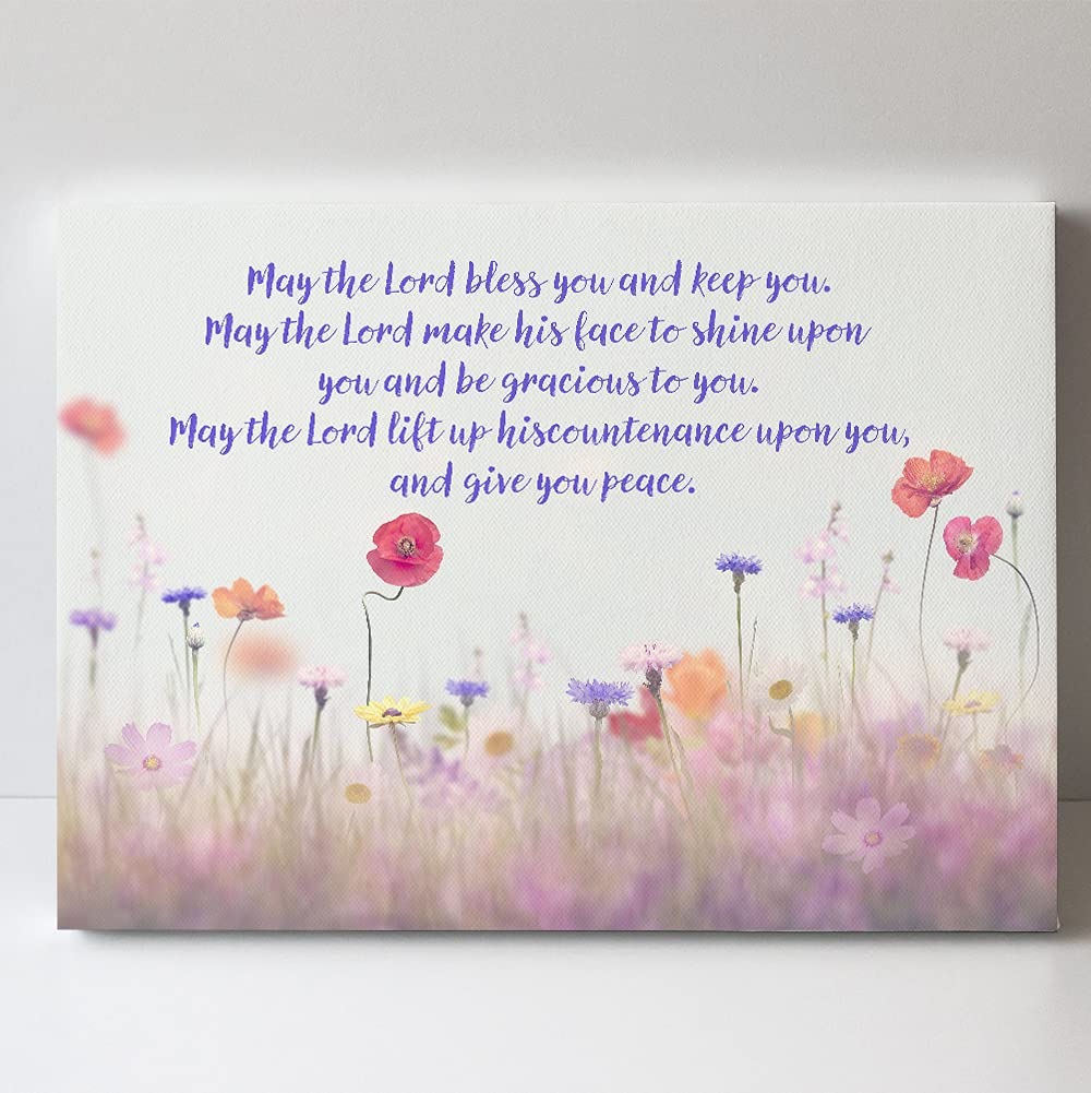 Christian Blessing Room Decor - High material May Canvas Lord You Bless the online shopping Wa