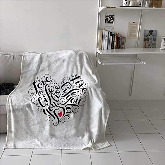Shipping. Only 47.25 Sherpa Fleece 50X60 Size Printed in U.S.A Loving SENTIMENTAL HEARTS Love Throw Blanket Graphics By S.Michael