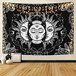 sun and moon mandala tapestry