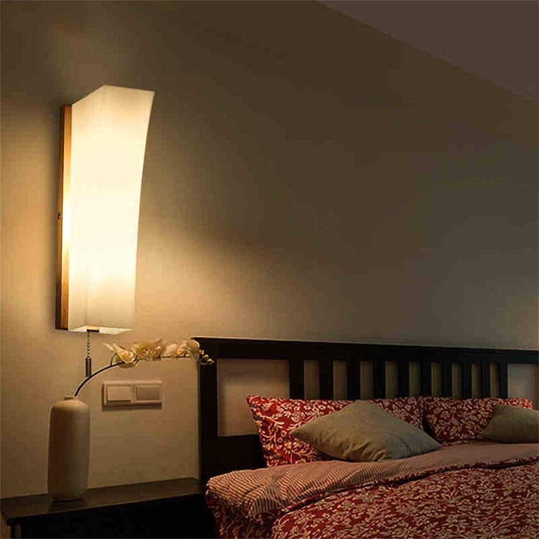 MDD Licht, einfache japanische Art-Wand-Gang-Lampen-Schlafzimmer-Nachttischlampe geführtes kreatives Holz gesund und umweltfreundlich schützen die Augen